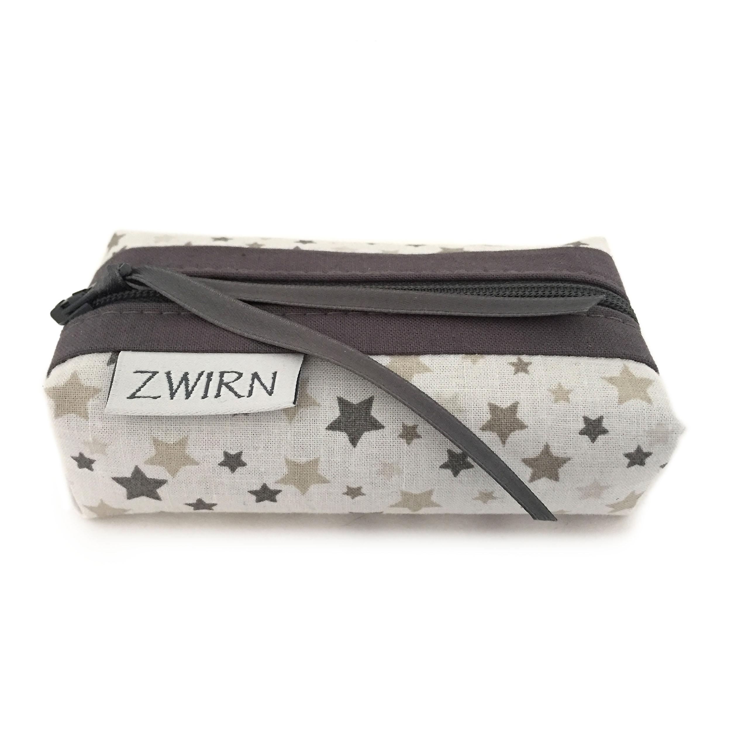 verschiedenes Design günstige Preise Sonderpreis für Taschentuch-Etui Sterne grau